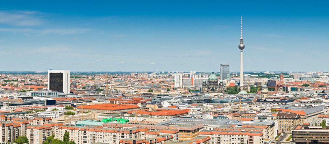 Blick über Berlin und auf den Berliner Fernsehturm