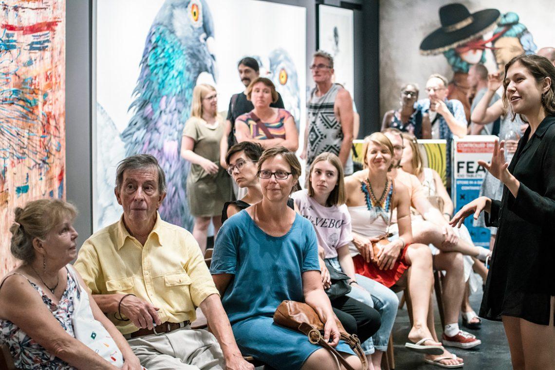 Besucher bei Urban Nation bei die Lange Nacht der Museen