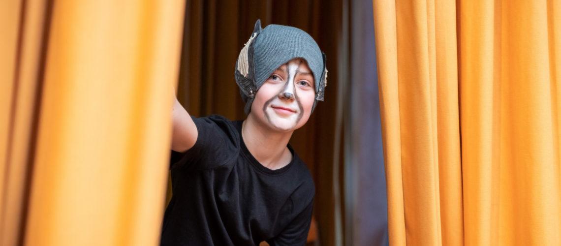 Verkleidetes Kind beim Projekt Abenteuer Oper der Stiftung Berliner Leben