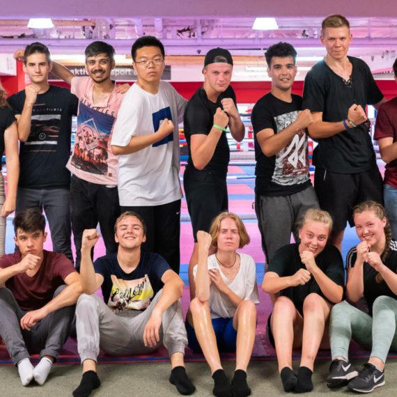 Teilnehmer vom durch Stiftung Berliner Leben gesponserten Lions Youth Camp