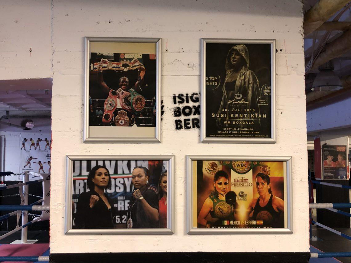 Bilderwand im Isigym Boxsport Verein